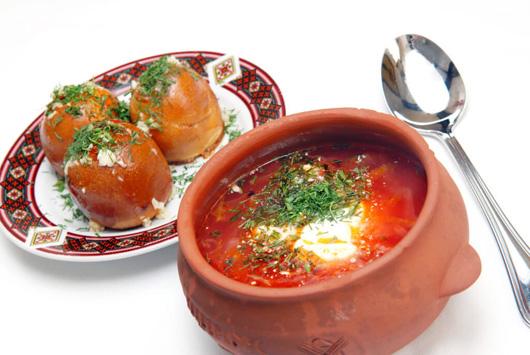 борщ украинский с пампушками рецепт с фото